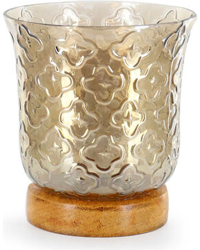 BB Ranch Glass Hurricane Candle Holder, Brown, hi-res