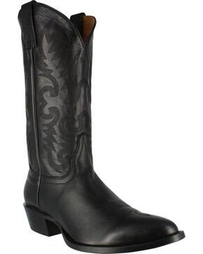 Cody James Men's Narrow Round R Toe Western Boots , Black, hi-res