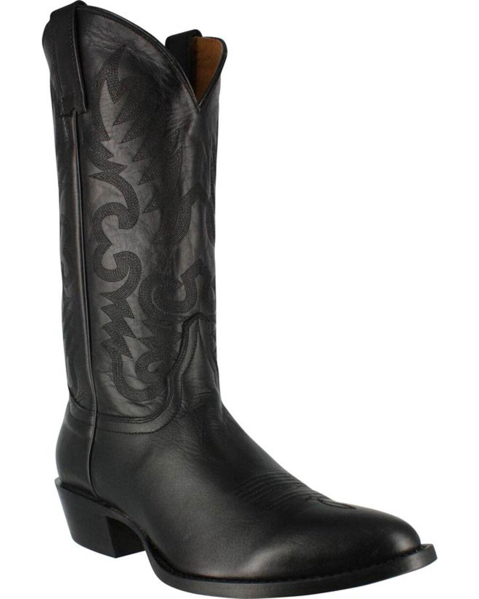 Cody James Men's Smooth Black Western Boots - Medium Toe, Black, hi-res