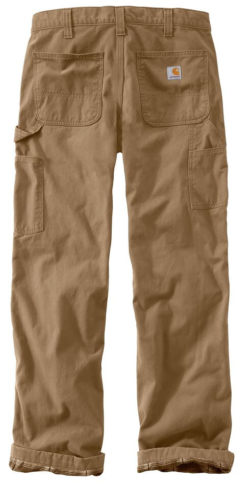 Carhartt Washed Twill Dungaree Flannel-Lined Pants, Khaki, hi-res