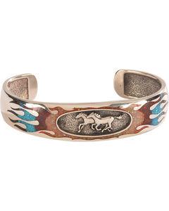 Silver Legends Women's Opal Running Horse Bracelet , White, hi-res