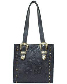 American West Women's Heritage Small Tote Bag, Black, hi-res