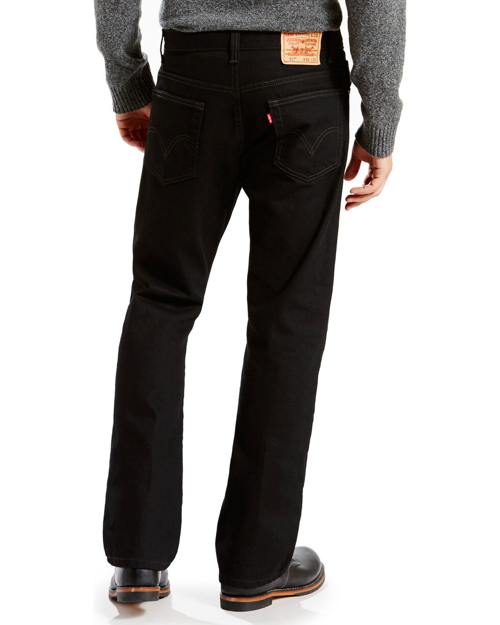 "Levi's Men's 517 Boot Cut Jeans - 44"" Waist, Black, hi-res"