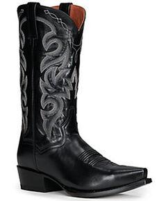 Dan Post Men's Milwaukee Western Boots - Snip Toe, Black, hi-res