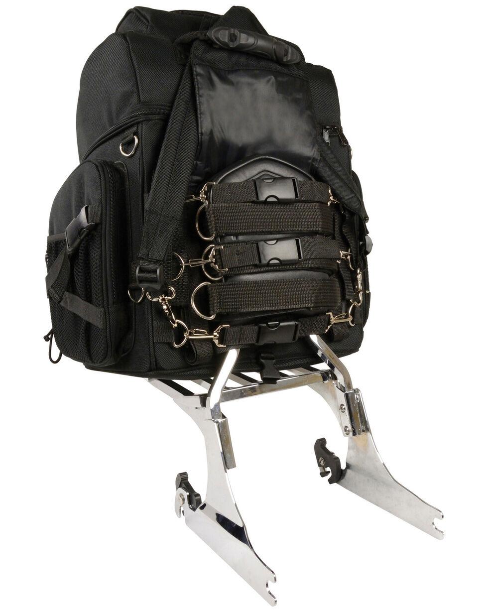 Milwaukee Leather Large Nylon Sissy Bar Travel Back Pack, Black, hi-res