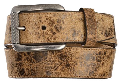 Justin Men's Tailgunner Leather Belt, Tan, hi-res