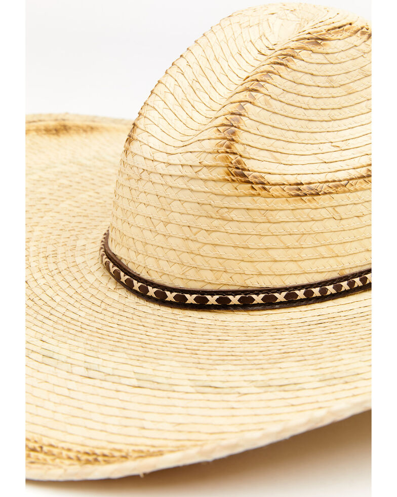 Cody James Guatemalan Gus Palm Straw Western Hat , Natural, hi-res