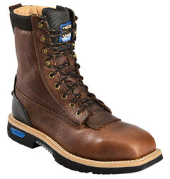 "Cinch Men's Utility 9"" Lace Up Work Boots, Brown, hi-res"