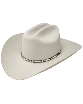 Stetson Del Norte 6x Felt Cowboy Hat, Light Grey, hi-res