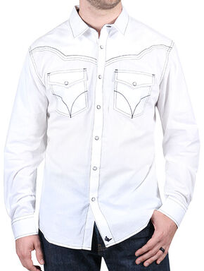 Cody James Men's White Sands Long Sleeve Shirt, White, hi-res