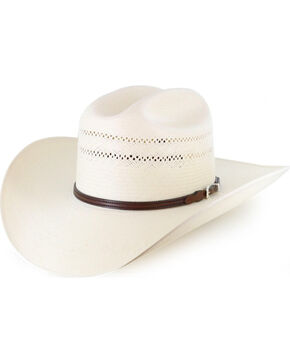 Resistol Men's George Strait 10X Straw Hat, Natural, hi-res