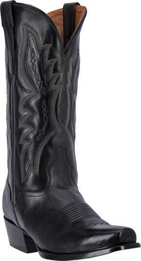 El Dorado Handmade Vanquished Calf Cowboy Boots - Snip Toe, Black, hi-res