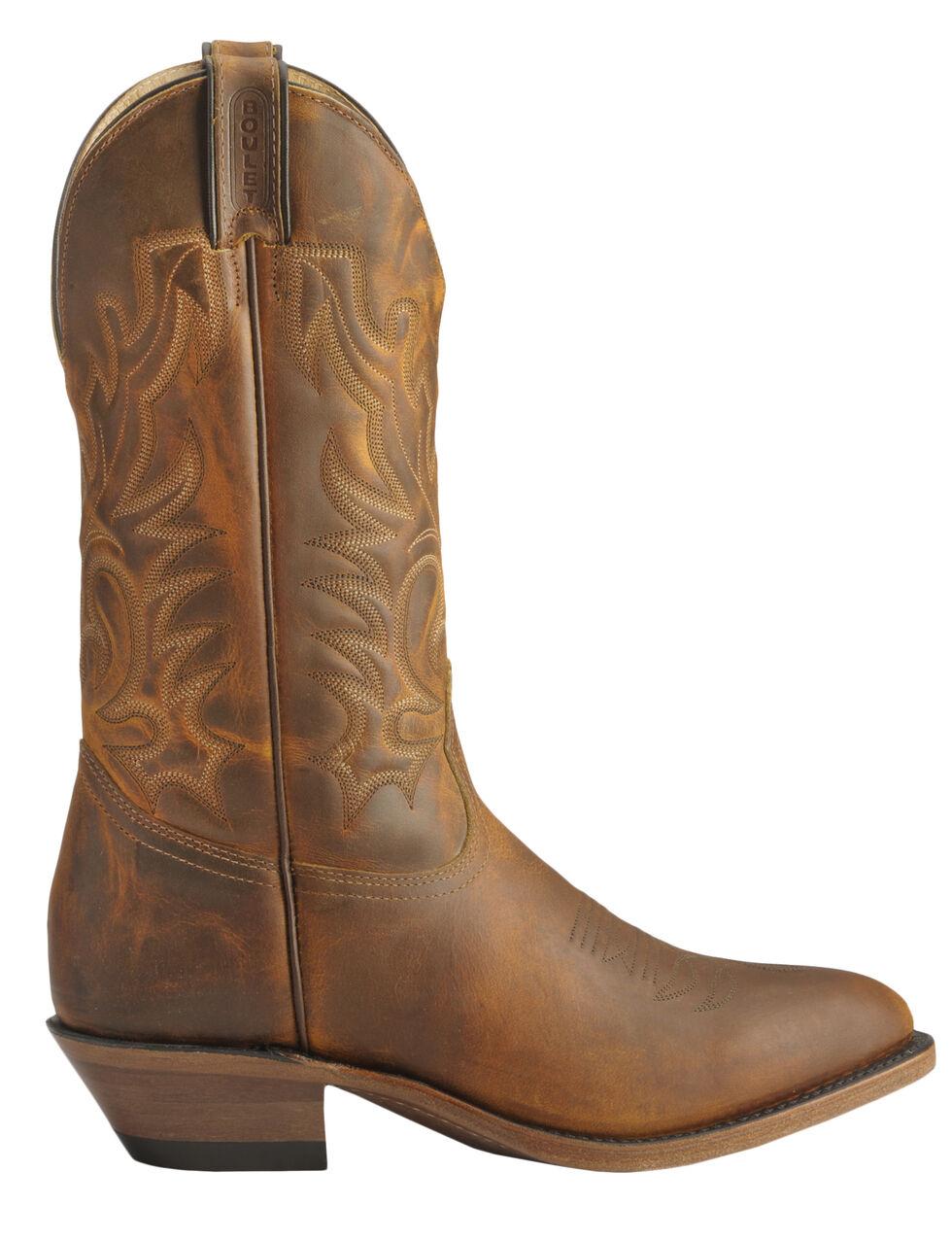 Boulet Cowboy Boots - Med Toe, Tan, hi-res
