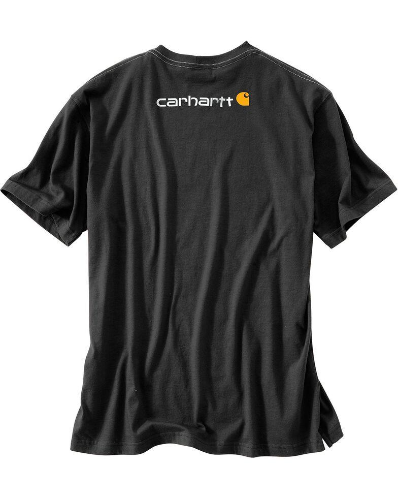 Carhartt Signature Logo Shirt Sleeve Shirt - Big & Tall, Black, hi-res
