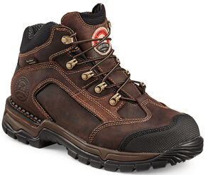 Red Wing Irish Setter Two Harbors Lace-Up Hiker Work Boots - Steel Toe , Brown, hi-res