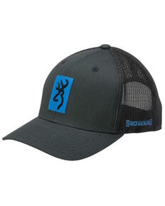 Browning Men's Blue & Grey Snap Shot Buck Logo Patch Mesh-Back Ball Cap , Blue, hi-res