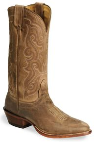 Nocona Legacy Series Vintage Cowboy Boots - Medium Toe, Tan, hi-res