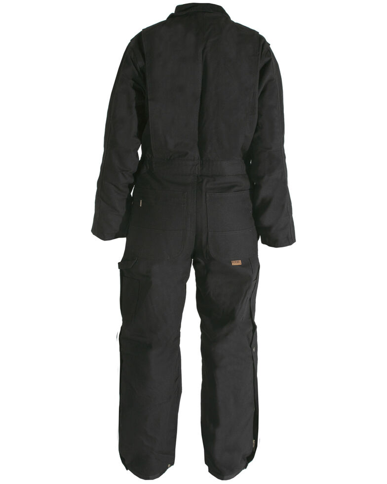 Berne Men's Duck Deluxe Insulated Coveralls - 3XL and 4XL, Black, hi-res