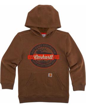 Carhartt Boys' Big Game Excursion Sweatshirt, Brown, hi-res