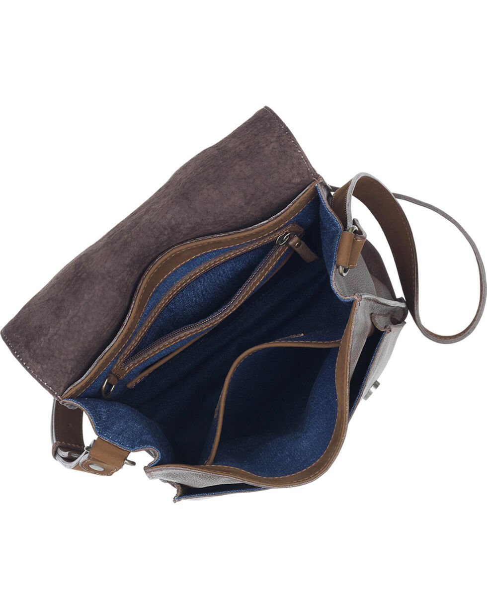 TrueLu Women's Brown Jaime Messenger Bag , Dark Brown, hi-res