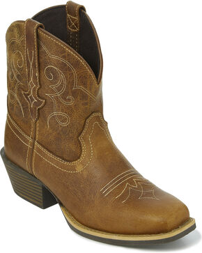 "Justin Gypsy Women's 7"" Chellie Tan Cowgirl Boots - Square Toe, Tan, hi-res"