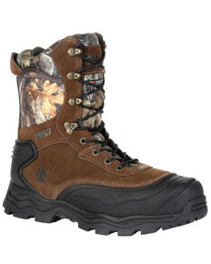 Rocky Men's Multi-Trax Waterproof Outdoor Boots - Soft Toe, Bark, hi-res