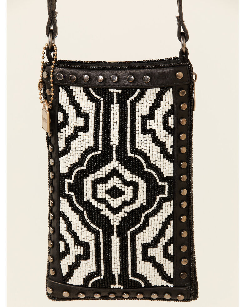 Mary Frances Women's Going Native Cell Phone Bag, Black, hi-res