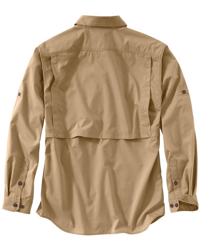Carhartt Men's Khaki Force Ridgefield Solid Long-Sleeve Shirt - Big & Tall, Khaki, hi-res