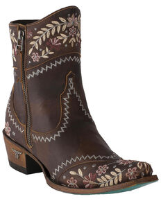 Lane Women's Landrun Gardens Floral Embroidered Western Boots - Snip Toe, Black, hi-res