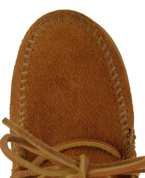 Minnetonka Girls' Ankle Tramper Moccasin Boots, Brown, hi-res
