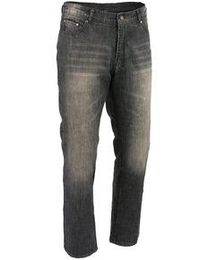 "Milwaukee Leather Men's Black 34"" Denim Jeans Reinforced With Aramid - XBig, Black, hi-res"
