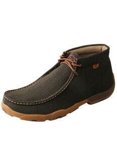 Twisted X Men's Work Chukka Driving Shoes - Steel Toe, Brown, hi-res
