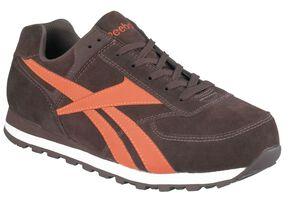 Reebok Men's Leelap Retro Jogger Work Shoes - Steel Toe, Brown, hi-res