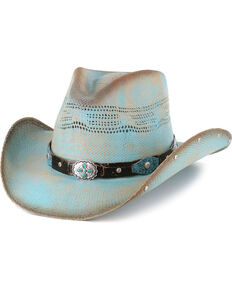 028ce37ca37 Bullhide Girls Blue Sun West Straw Hat