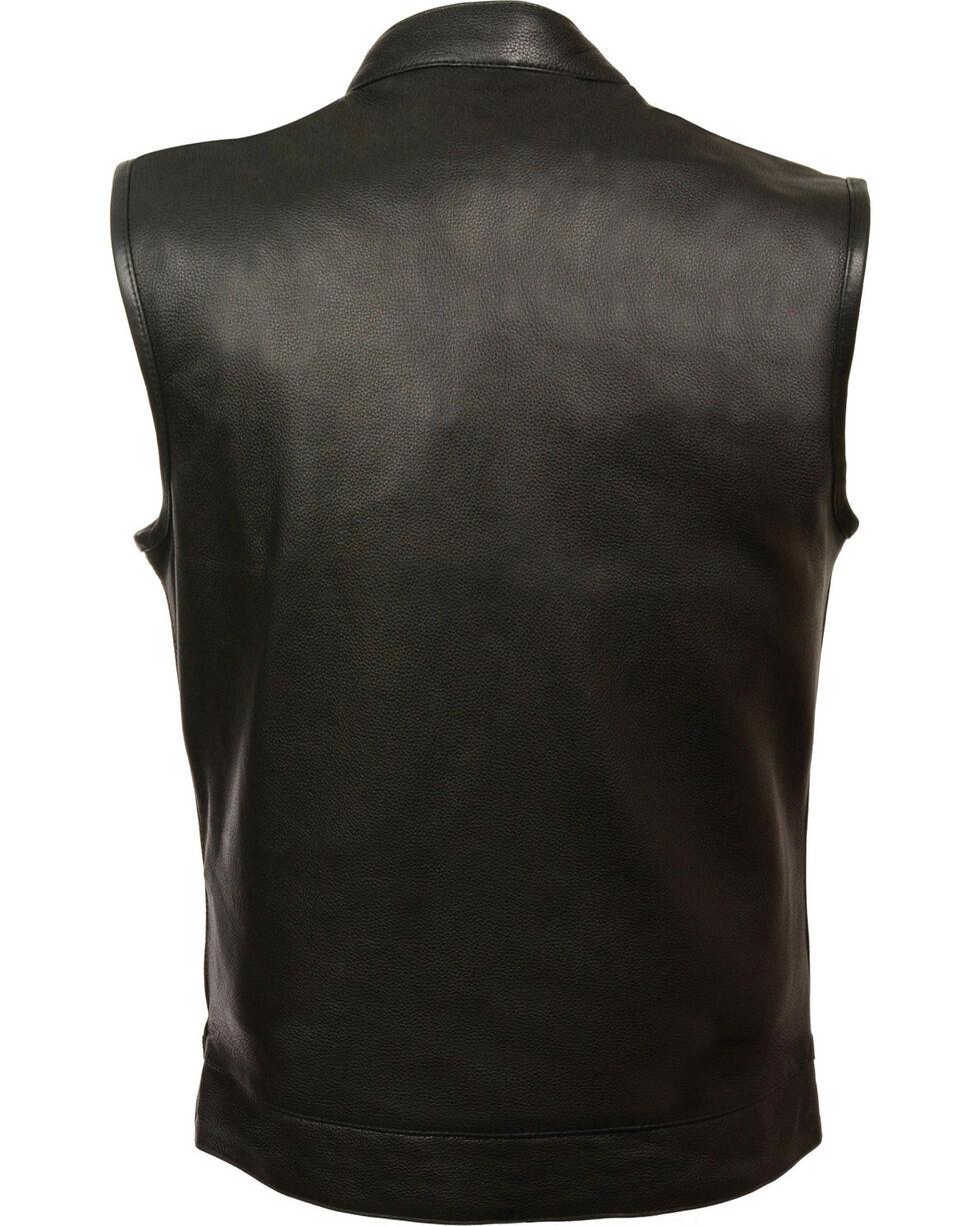 Milwaukee Leather Men's Open Neck Snap/Zip Front Club Vest - 4X, , hi-res