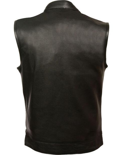 Milwaukee Leather Men's Open Neck Snap/Zip Front Club Vest - 5X, , hi-res