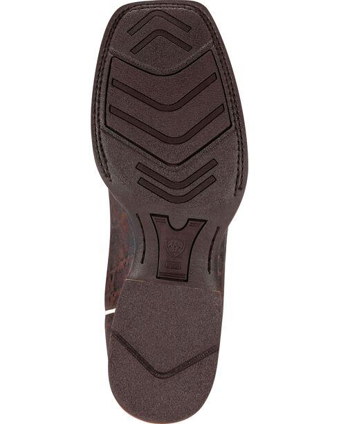 Ariat Men's Quickdraw Elephant Print Boot - Wide Square Toe, Chocolate, hi-res