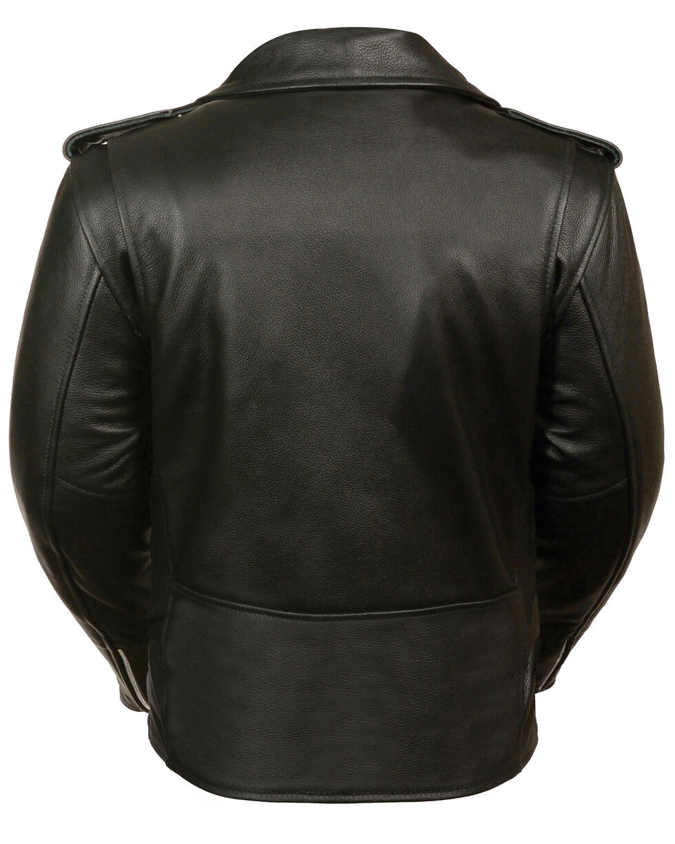 Milwaukee Leather Women's Full Length Traditional Leather Police Jacket - 5X, Black, hi-res