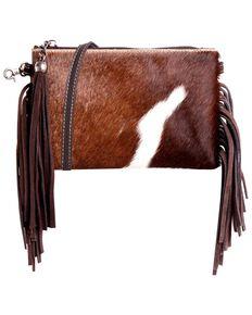 Montana West Women's Friday Hair-On Crossbody Bag, Brown, hi-res