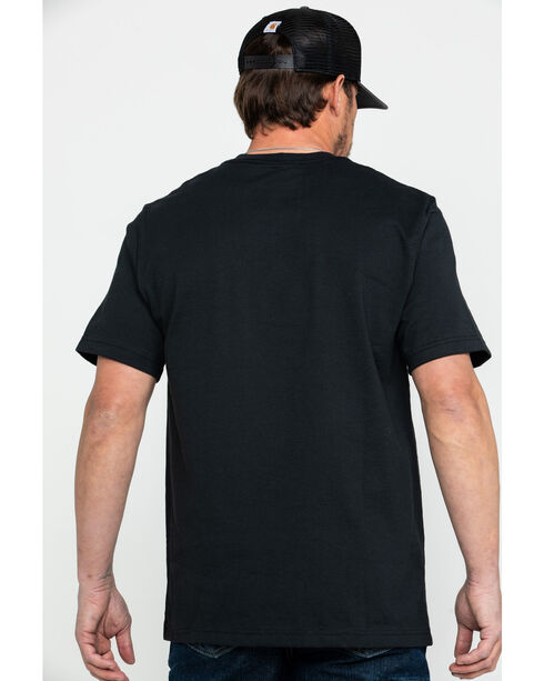 Carhartt Signature Logo Short Sleeve Shirt, Black, hi-res