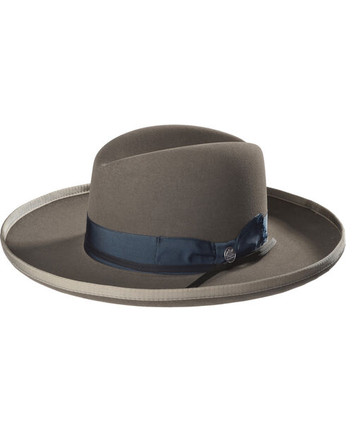 Stetson Men's Grey West Bound B Felt Hat , Grey, hi-res