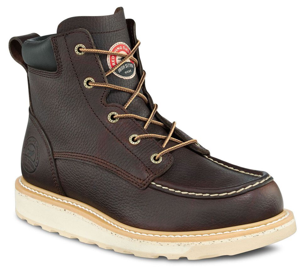 """Irish Setter by Red Wing Shoes Men's Ashby Wedge 6"""" Lace-Up Work Boots - Aluminum Safety Toe, Brown, hi-res"""