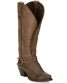 Tony Lama Women's Lottie Western Boots - Snip Toe, Brown, hi-res