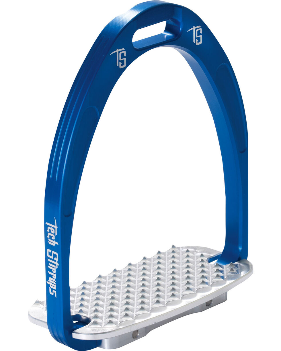 Tech Stirrups Blue Athena Jumper Irons , Blue, hi-res
