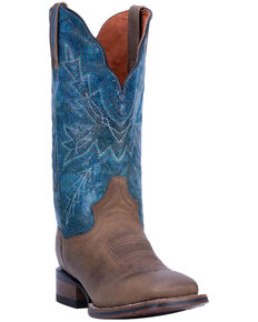 Dan Post Women's Pasadena Western Boots - Wide Square Toe, Sand, hi-res