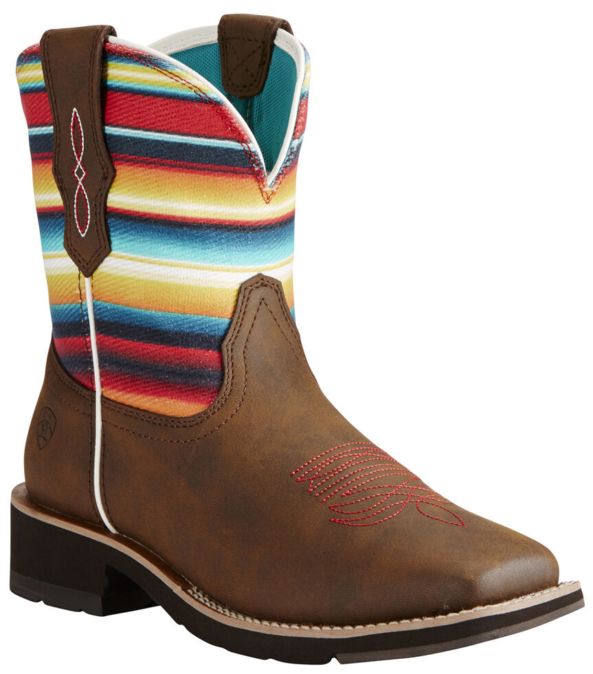 Ariat Fatbaby Brown Rosie Cowgirl Boots - Square Toe, , hi-res