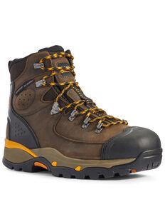 Ariat Men's Brown Endeavor Waterproof Work Boots - Composite Toe, Brown, hi-res
