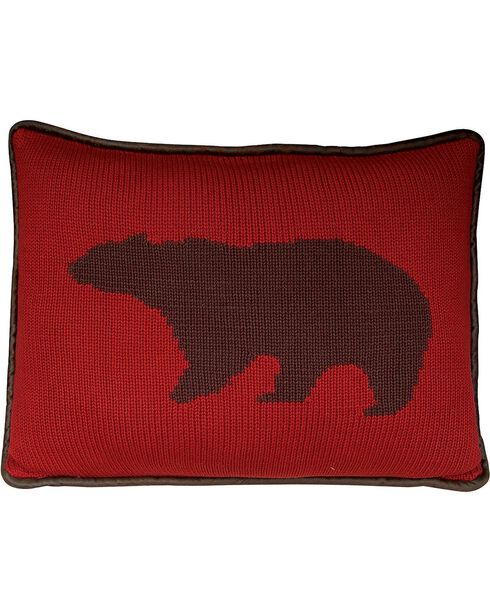 HiEnd Accents Wilderness Ridge Knitted Bear Throw Pillow, Multi, hi-res