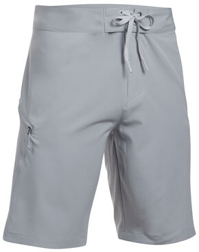 Under Armour Men's Light Grey Solid Board Shorts, Grey, hi-res