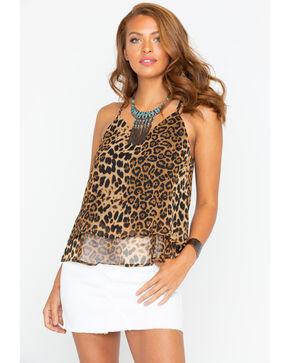 Panhandle Women's Cheetah Print Swing Tank, Brown, hi-res